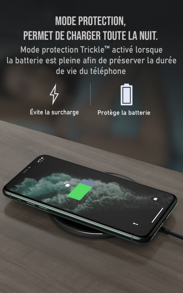 mode protection chargeur induction