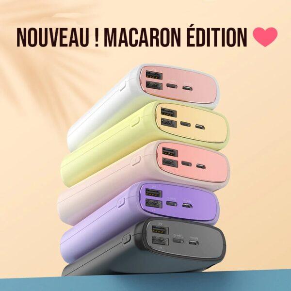 Batterie externe 20000mah couleurs macaron