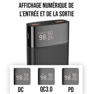 batterie externe affichage numérique