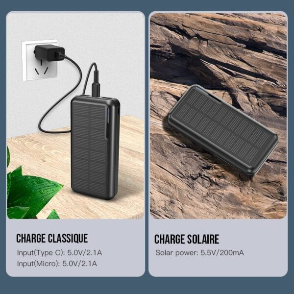 Charge classique VS. Charge solaire