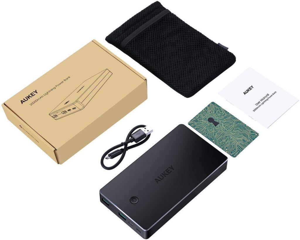 Batterie externe 20000mAh Aukey accessoires