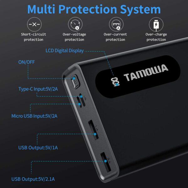 Batterie externe 20000mAh multi protection