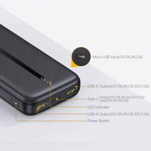 Batterie externe 20000mAh Détails