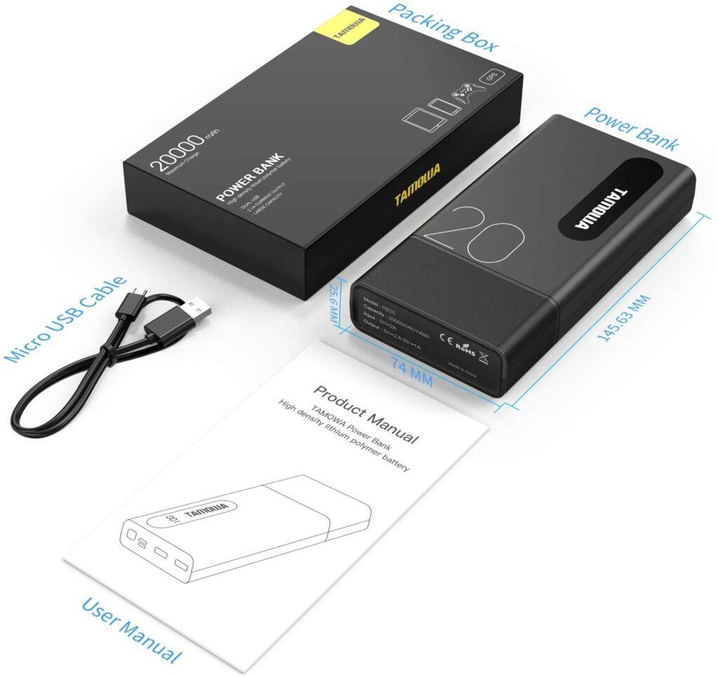 Batterie externe 20000mAh Tamowa accessoires