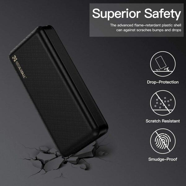batterie externe 20000mAh Coolreall sécurité
