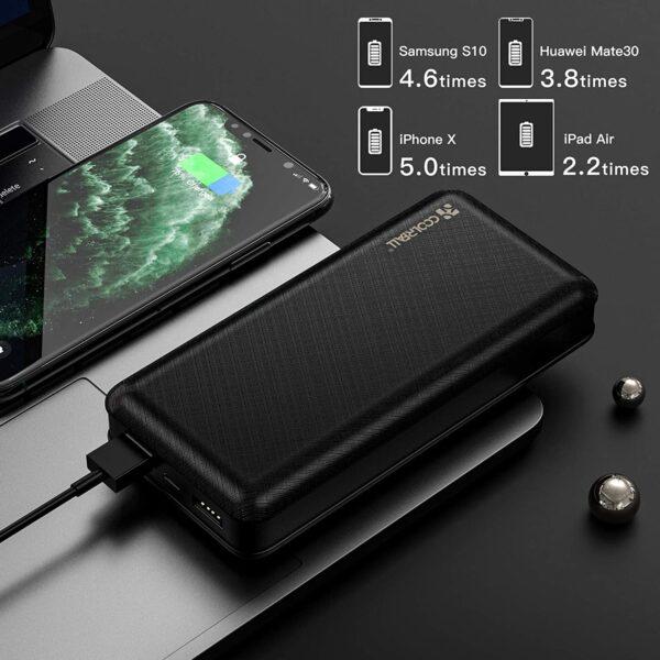 batterie externe 20000mAh Coolreall capacité