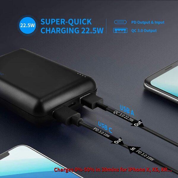 Batterie externe 20000mAh charge rapide