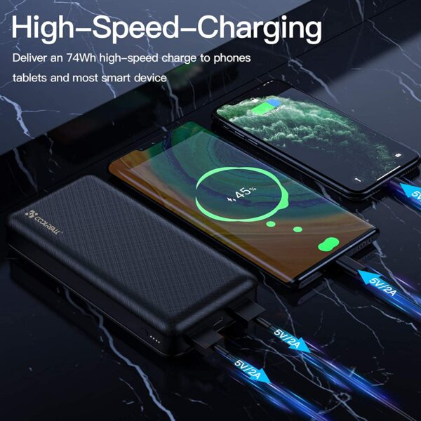 batterie externe 20000mAh Coolreall charge rapide