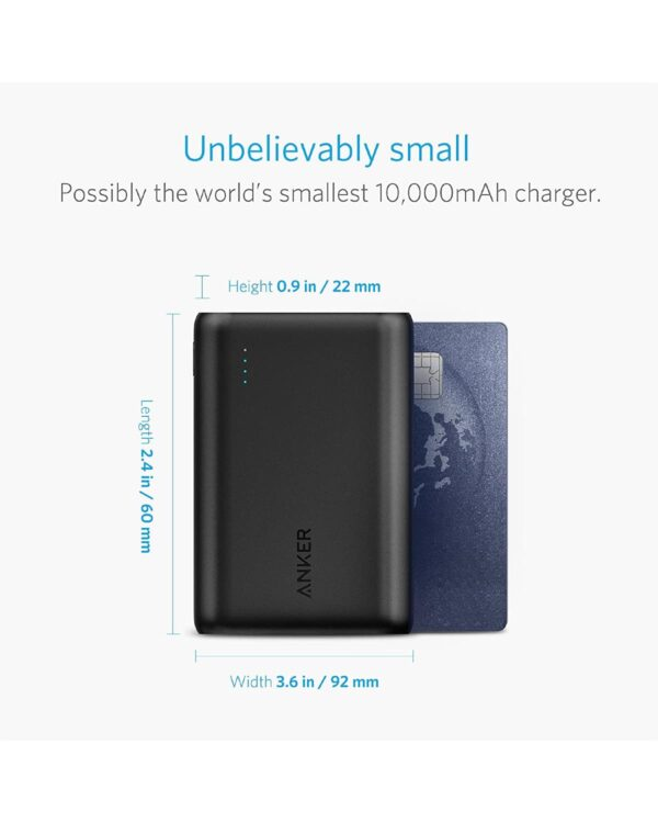 Batterie externe 10000mAh anker mini petite compacte