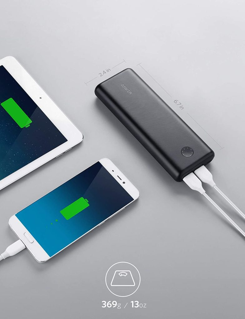 batterie externe 20000mAh Anker Powercore II taille poids
