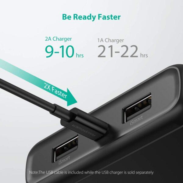 batterie externe 20000mAh ravpower charge rapide