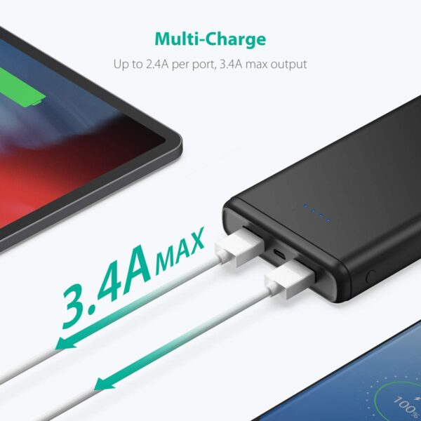 batterie externe 20000mAh ravpower double charge
