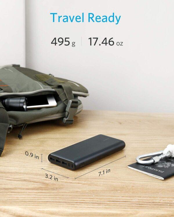 batterie externe 26800mAh Anker taille et poids