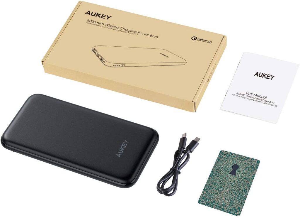 batterie externe aukey 8000mAh sans fil accessoires