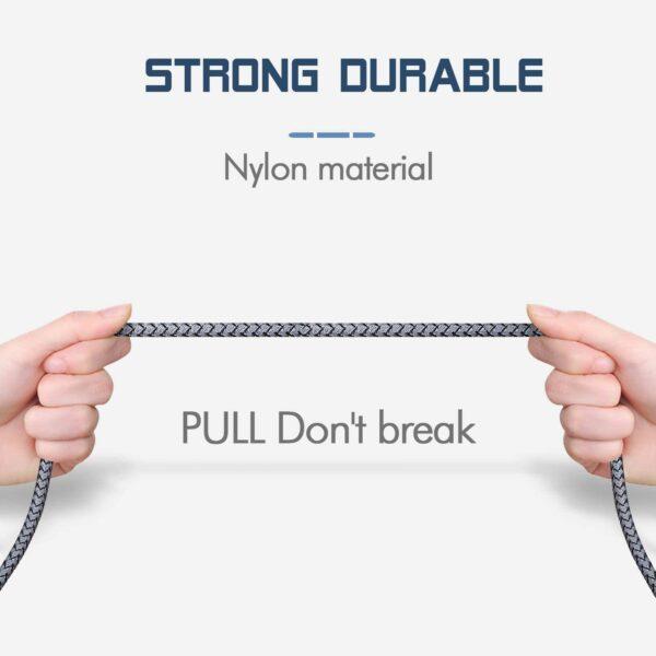 3 Câbles iPhone (1m+1m+2m) durable