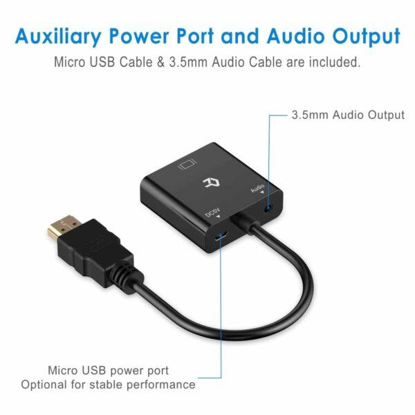 Adaptateur HDMI vers VGA caractéristiques