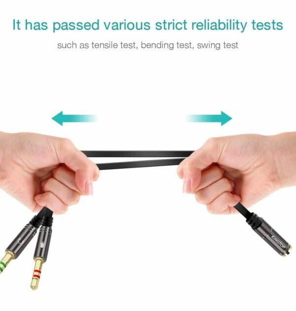 Adaptateur câble jack stéréo test de qualité