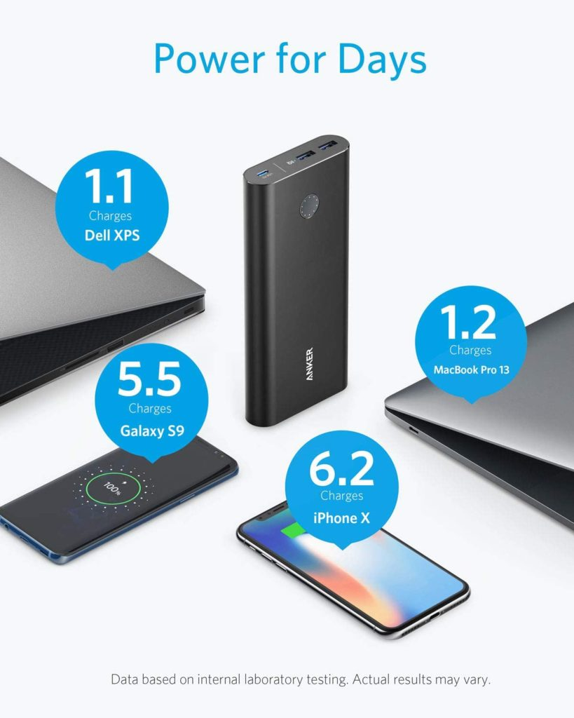 Batterie externe 26800mAh Powercore + grande capacité