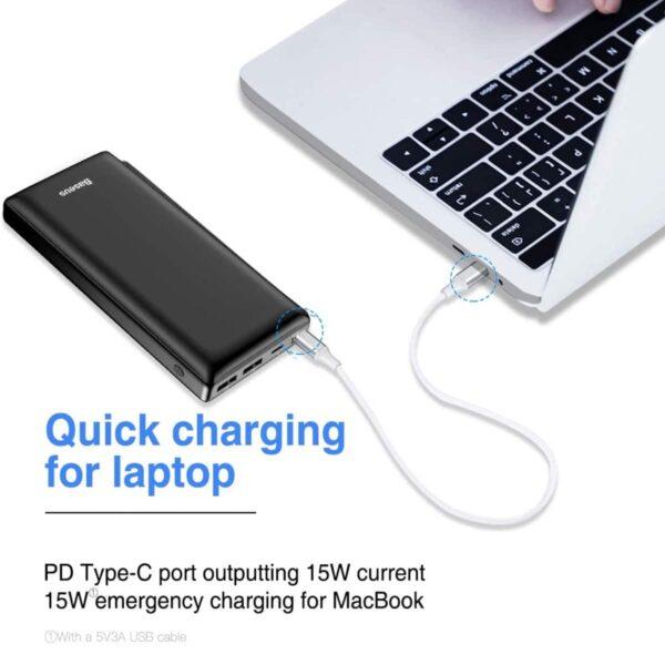 Batterie externe 30000mAh Baseus charge macbook