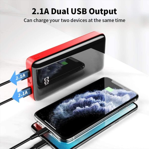 Batterie externe 30000mAh Bextoo double charge rapide