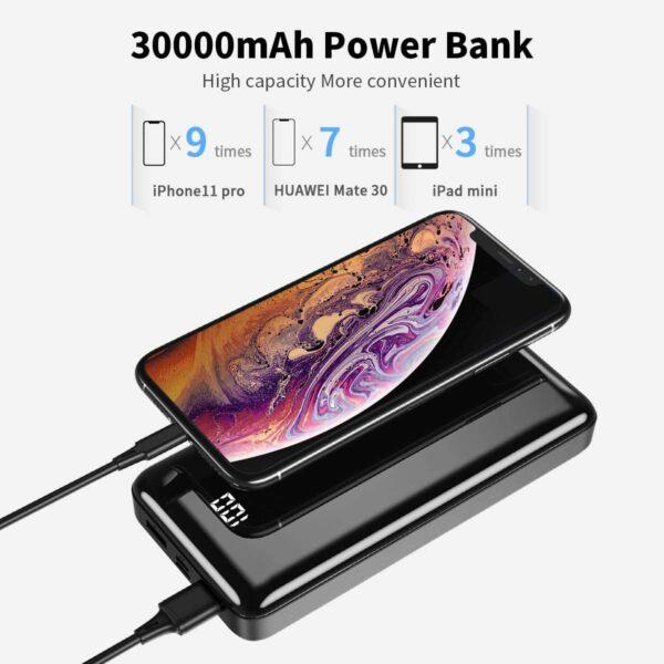 Batterie externe 30000mAh Bextoo grande capacité