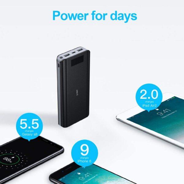 Batterie externe 30000mAh EMNT capacité