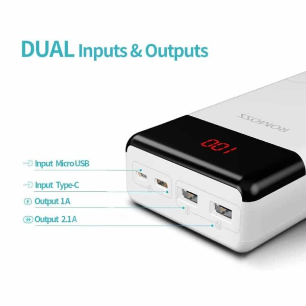 Batterie externe 30000mAh LT30 ports