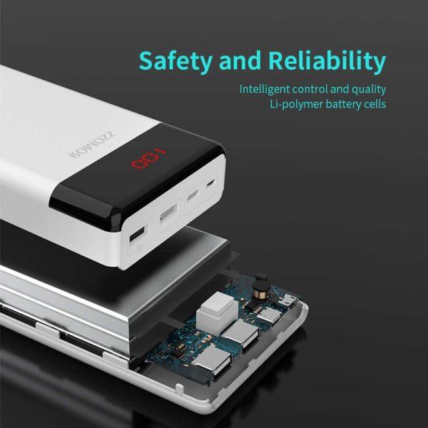 Batterie externe 30000mAh LT30 sécurité
