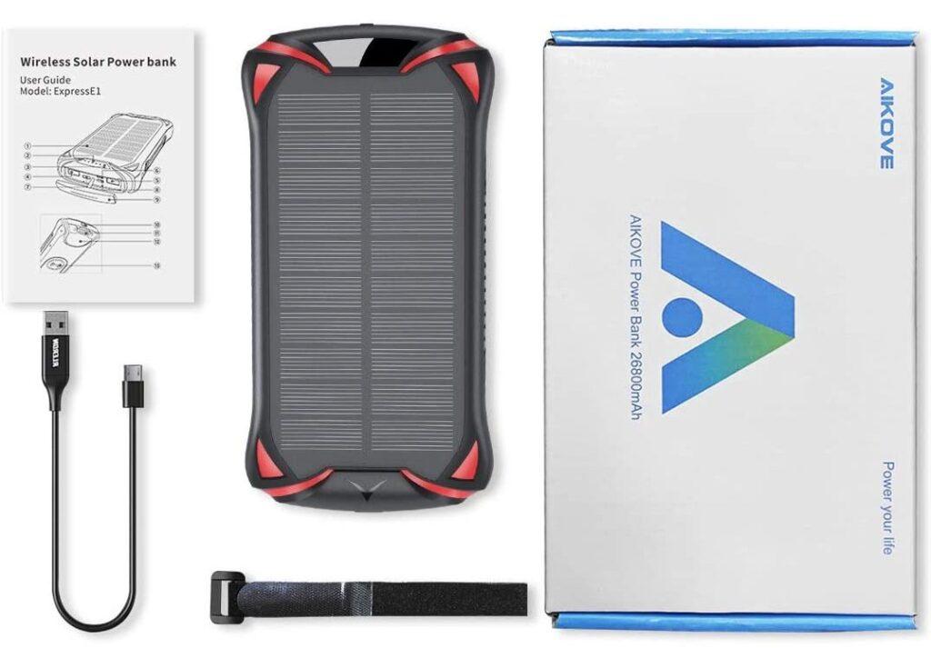 Batterie externe 30000mAh solaire accessoires