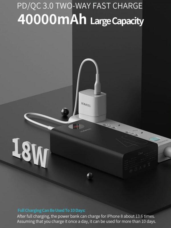 Batterie externe 40000mAh ROMOSS charge rapide