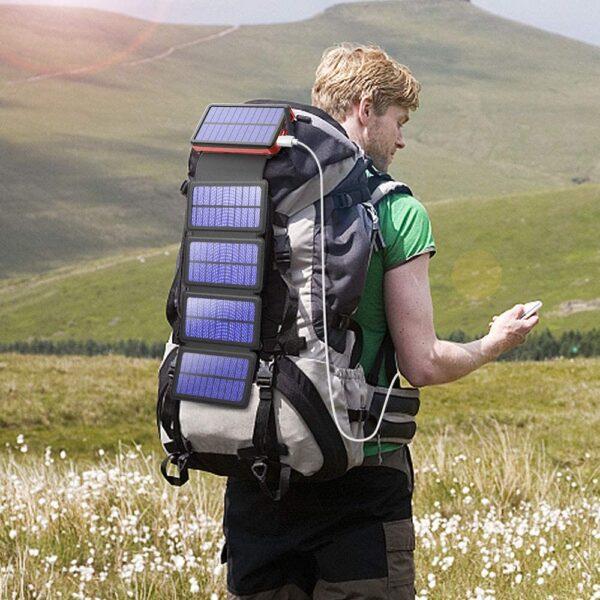 Batterie externe Solaire 20000mAh sac à dos