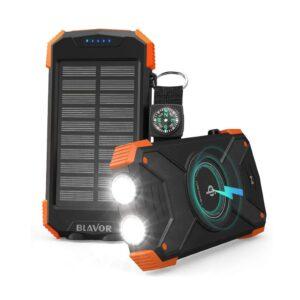 Batterie externe solaire 20000mAh charge sans fil (2)