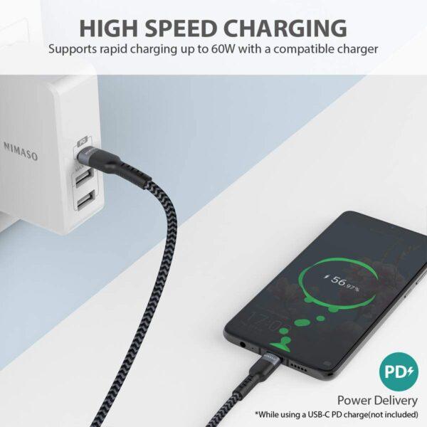 Câble USB Type C Nimaso charge rapide