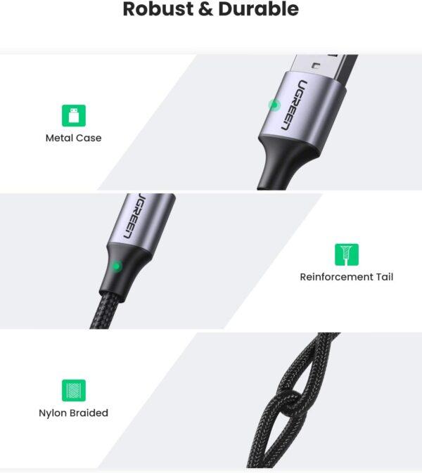 Câble USB Type C Ugreen 3A caractéristiques