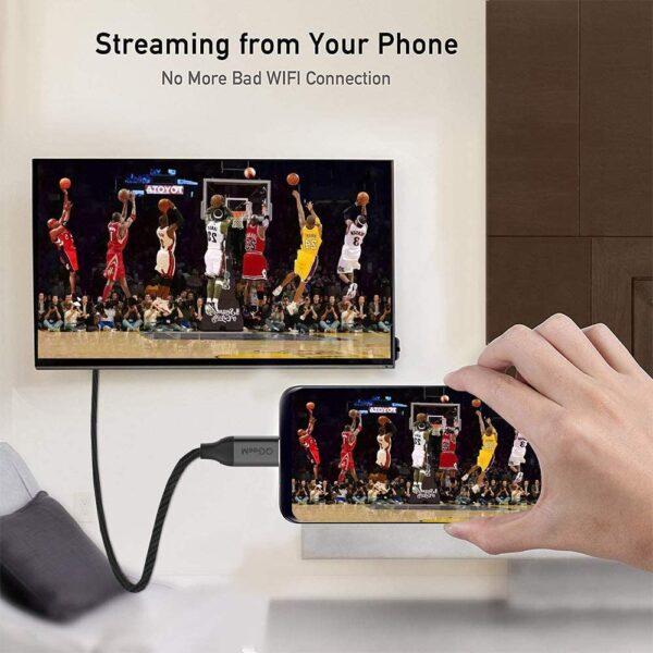 Câble USB Type C vers HDMI téléphone à télé