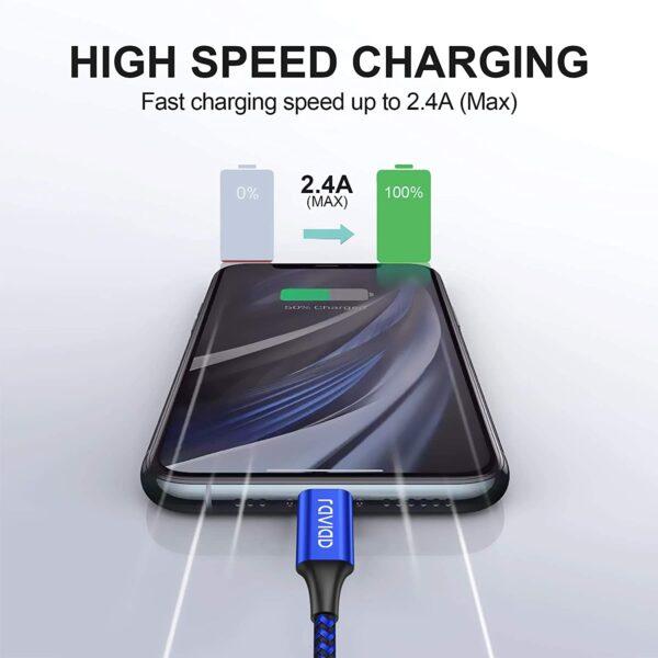 Câble iPhone Raviad charge rapide