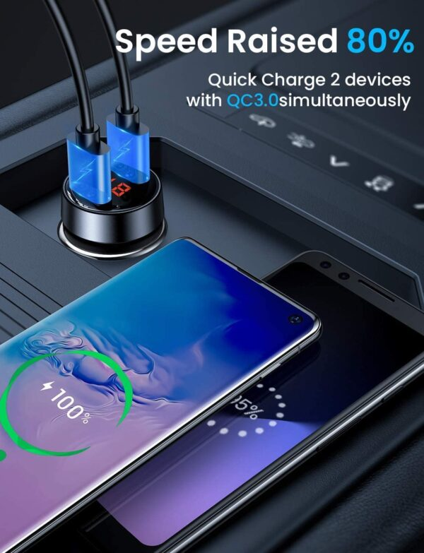 Chargeur Allume Cigare Ainope 3.0 charge rapide