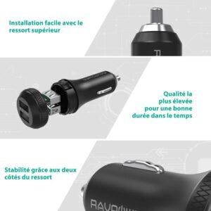 Chargeur Allume Cigare RAVPower 40W caractéristiques
