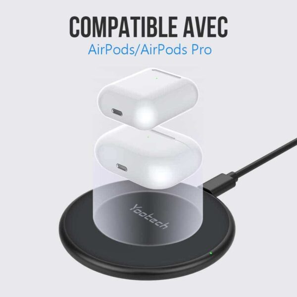 Chargeur Induction 15W Yootech airpods