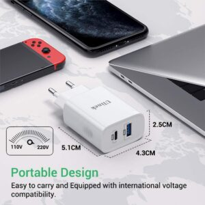 Chargeur rapide 3.0 18W Ulinek taille