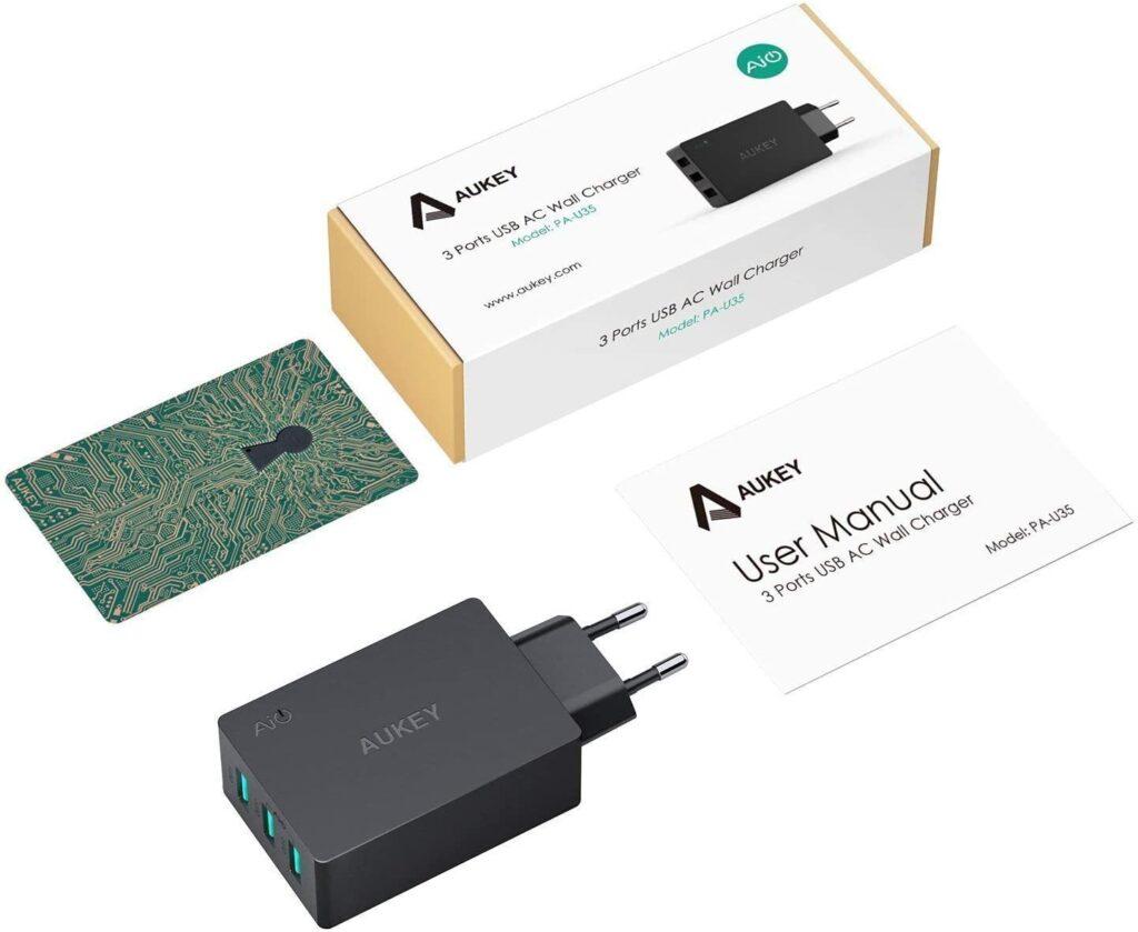 Chargeur rapide Aukey 3 ports 30W accessoires