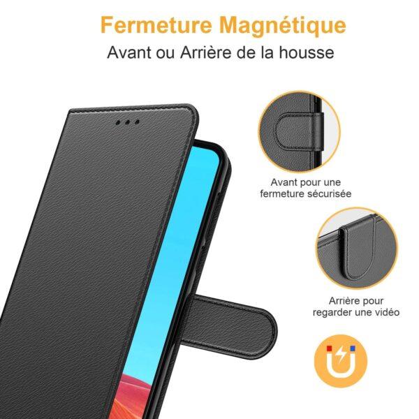 Coque Portefeuille Galaxy A10 fermeture magnétique