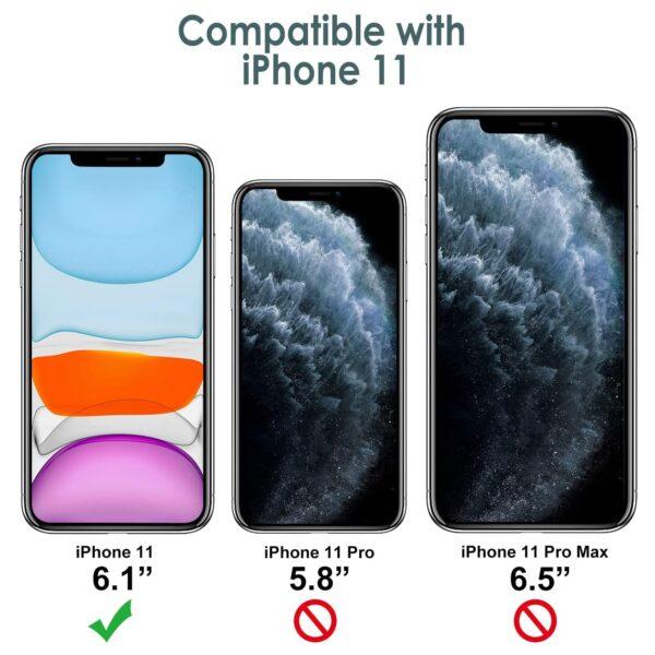 Coque en Silicone iPhone 11 compatibilité
