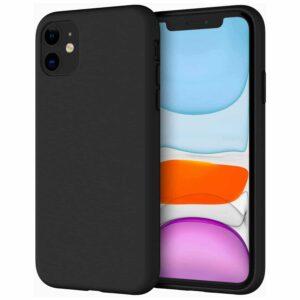 Coque en Silicone iPhone 11 noire