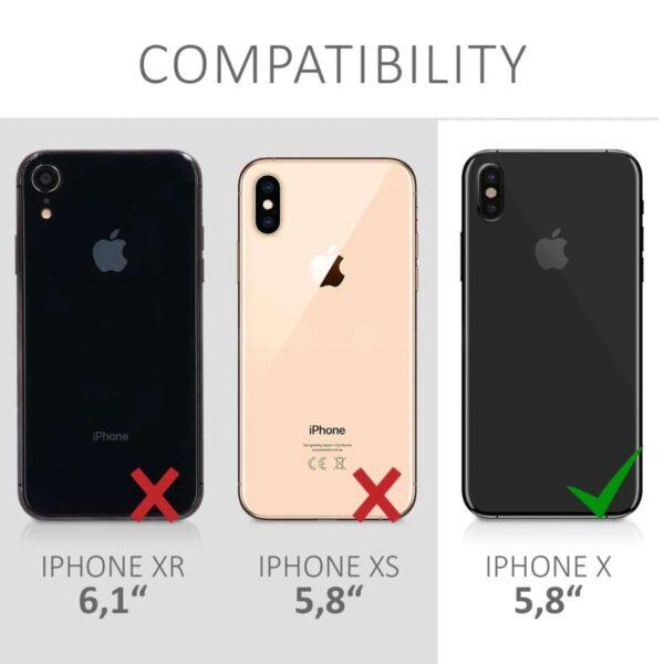 Coque iPhone X Papaye compatibilité