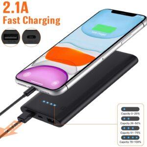 Lot de 2 Batterie Externe 10000mAh Ekrist charge rapide