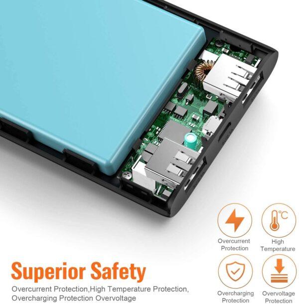 Lot de 2 Batterie Externe 10000mAh Ekrist protection