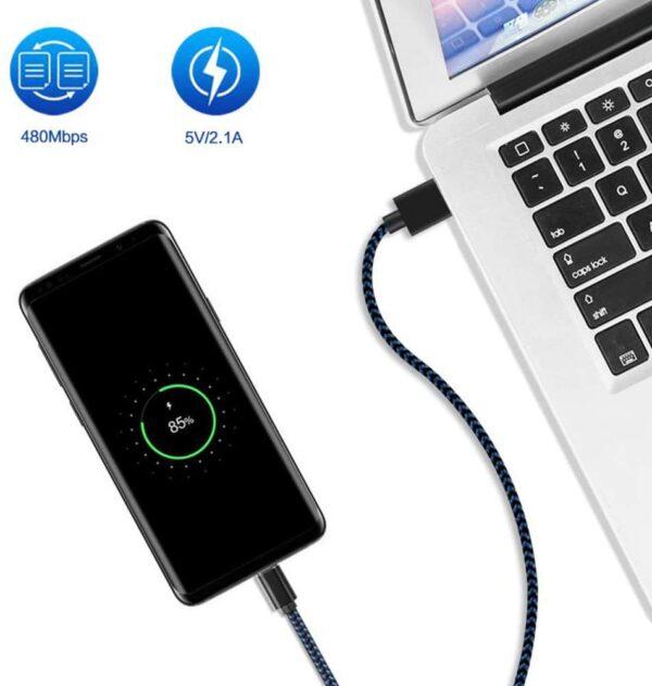 Lot de 3 Câble USB Type C charge rapide