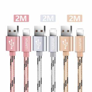 Lot de 3 Câble pour iPhone Luvfun