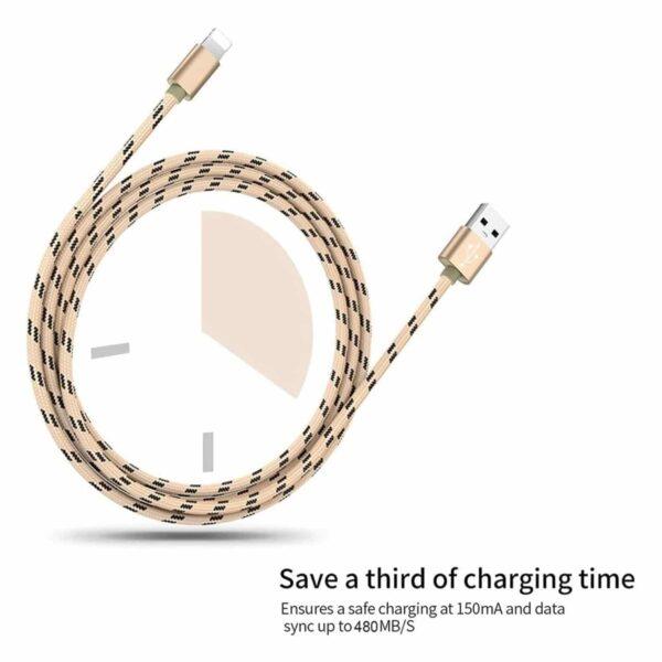 Lot de 3 Câble pour iPhone Luvfun charge rapide